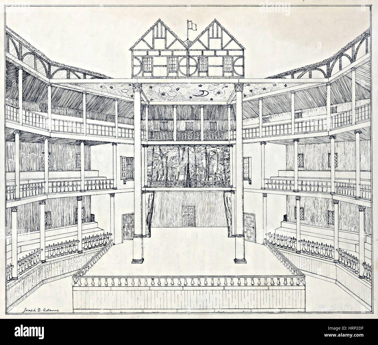 shakespeares globe theatre reconstruction HRP2DF literature william shakespeare globe theatre diagram