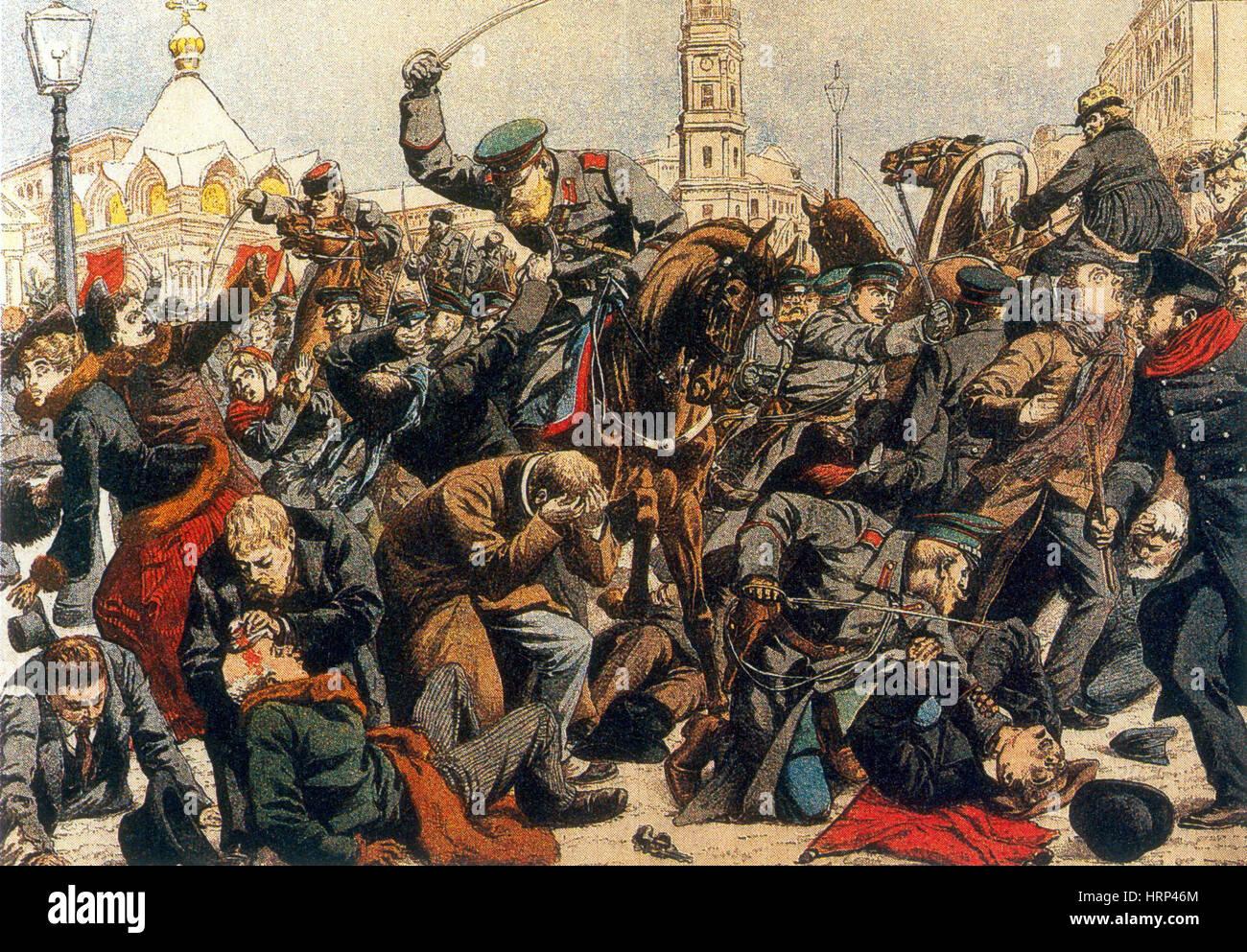 Bloody Sunday Russia Stock Photo
