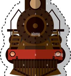 steam train silhouette isolated icon stock image [ 903 x 1390 Pixel ]
