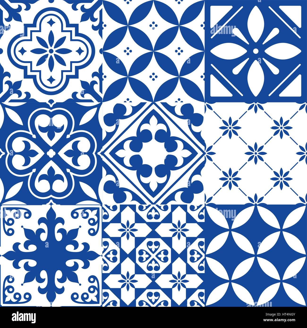 https www alamy com stock photo spanish tiles moroccan tiles design seamless navy blue pattern 135329067 html
