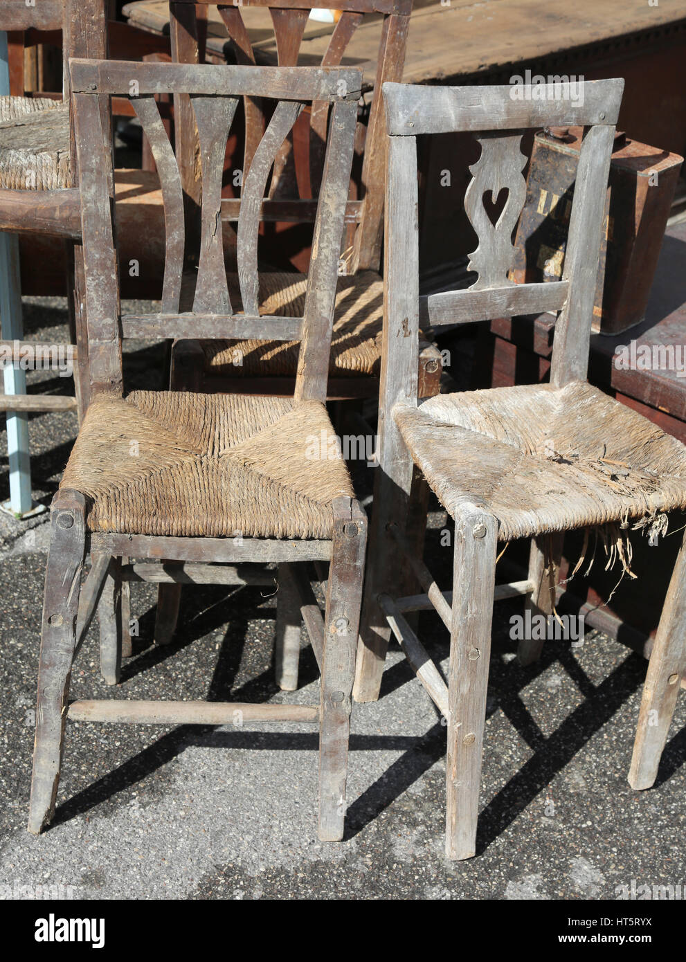 wicker chairs for sale office denver old in the outdoor antiques market stock