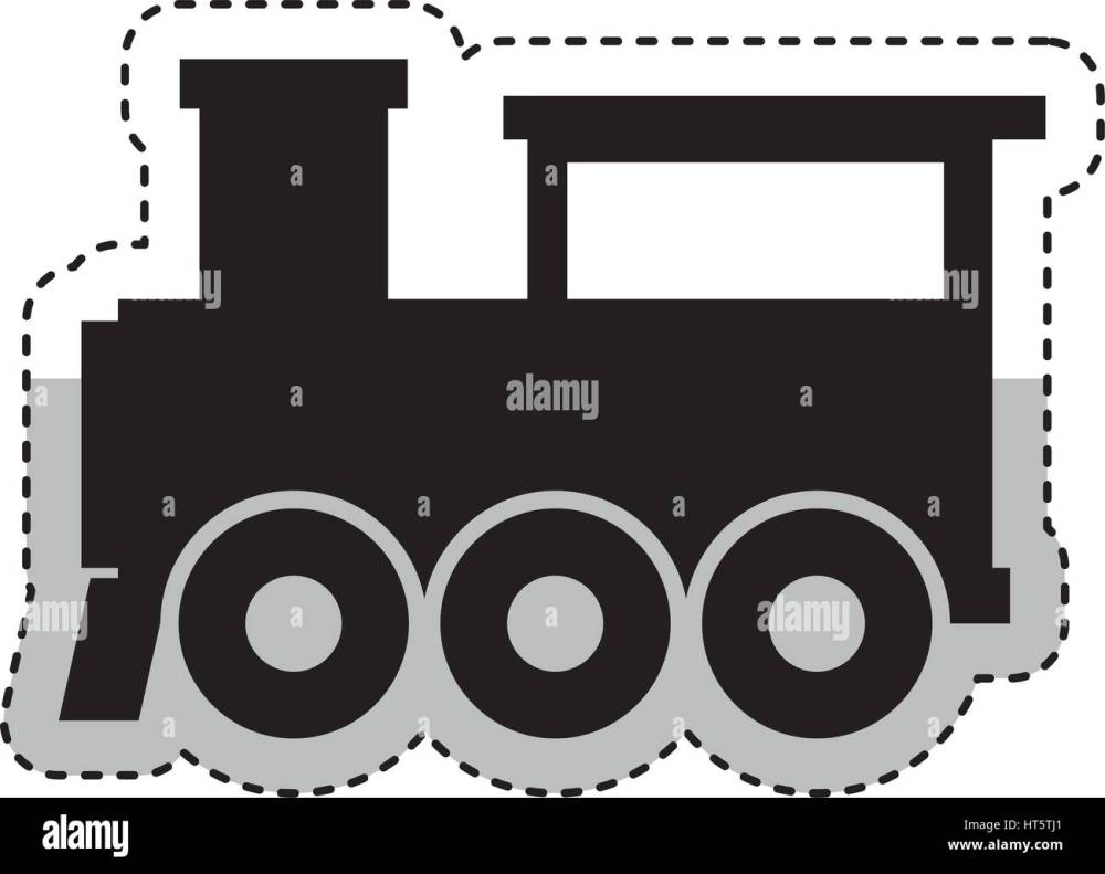 medium resolution of steam train silhouette isolated icon stock image