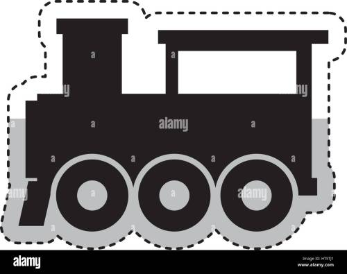 small resolution of steam train silhouette isolated icon stock image