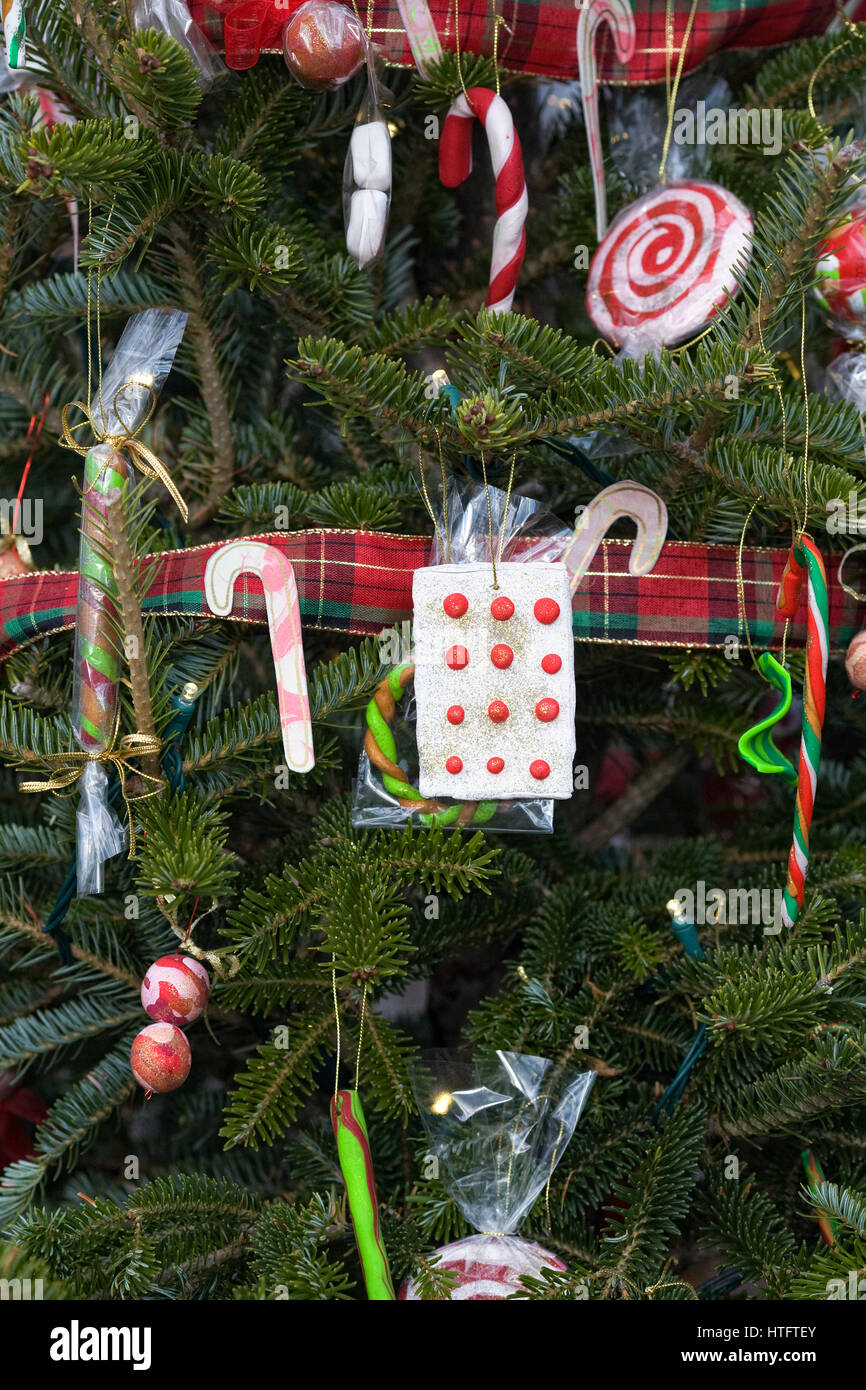 Candy Cane Christmas Tree Decorations