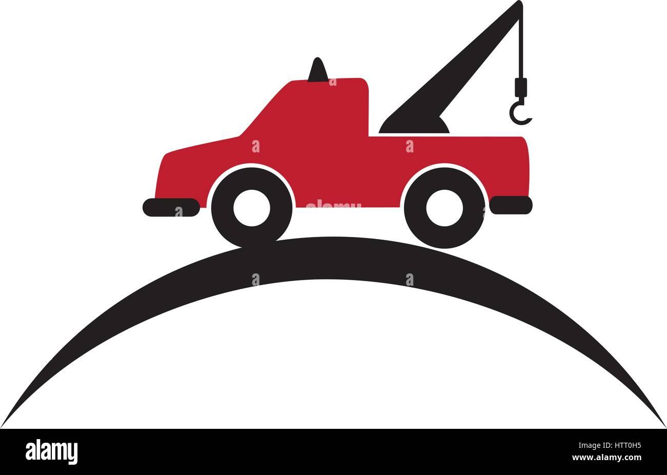 tow truck car crane