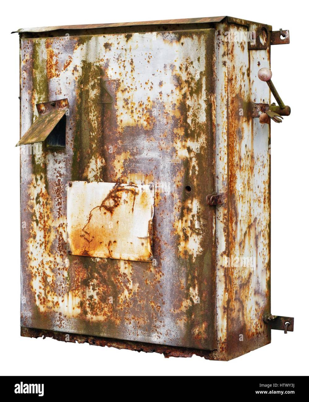 medium resolution of old rusty retro metal box for electrical fuses and switches isolated stock image