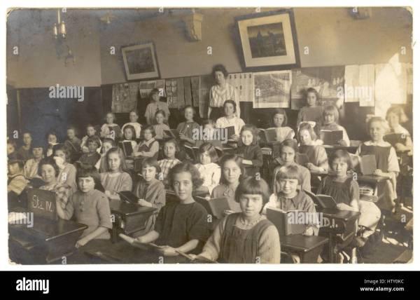 Early 1900 School Classroom