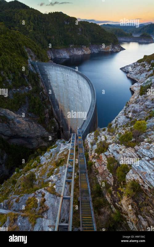 small resolution of the gordon dam south west tasmania australia stock image