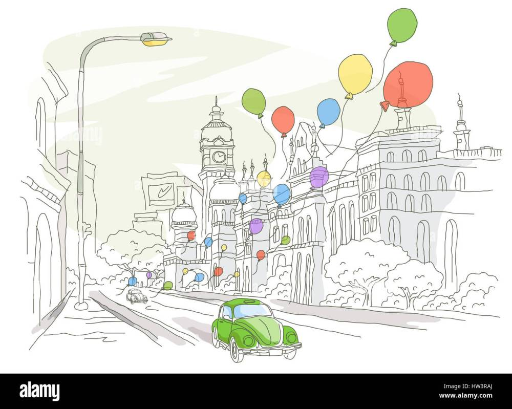 medium resolution of architecture balloon building exterior building structure car city location clipart clock tower color colour color image computer graphics day digitally