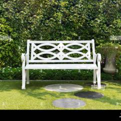 Hanging Lounge Chair Canada Belmont Barber Parts Wood Lawn Stock Photos & Images - Alamy