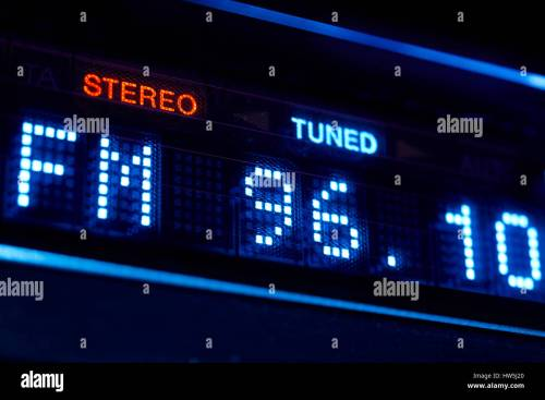 small resolution of fm tuner radio display stereo digital frequency station tuned horizontal stock image