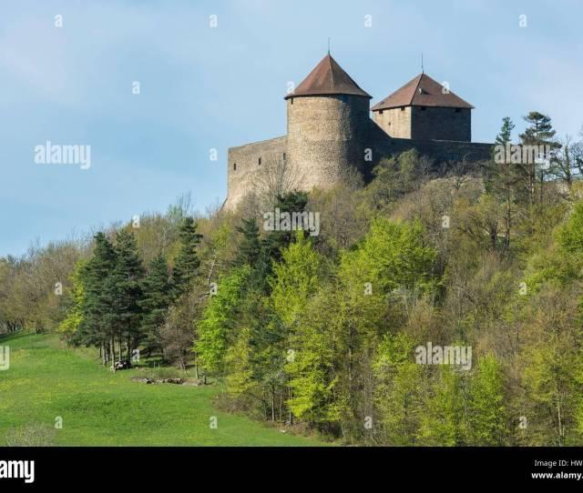 France Ain Bugey Region Amberieu En Bugey Brey De Vent Hamlet Allymes Castle Is An Old 14th Century Fortified Castle