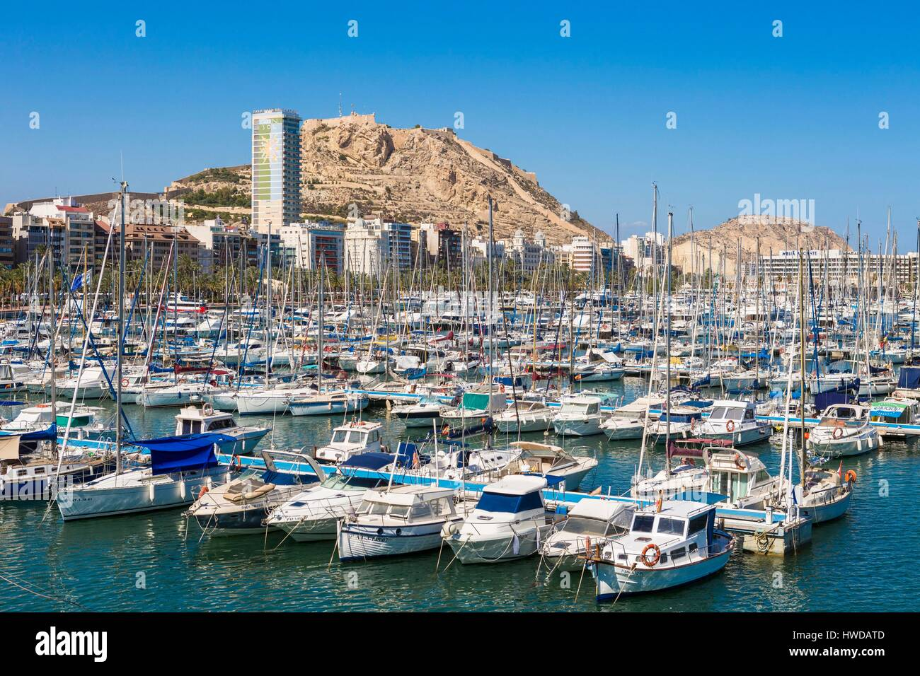 alicante harbour stock photos