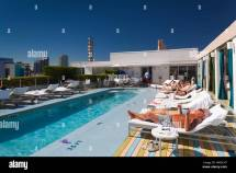 Hotel Rooftop Pool Stock &