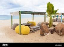 Private Beach Dinner Stock &
