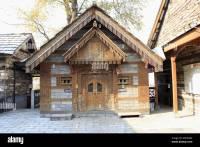Stone and wood house at Naggar Castle, Kulu Manali ...