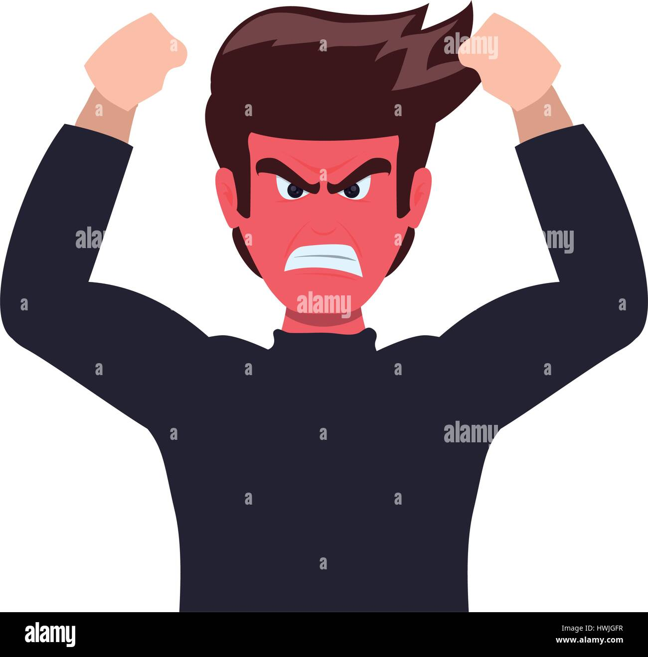 angry cartoon face stock