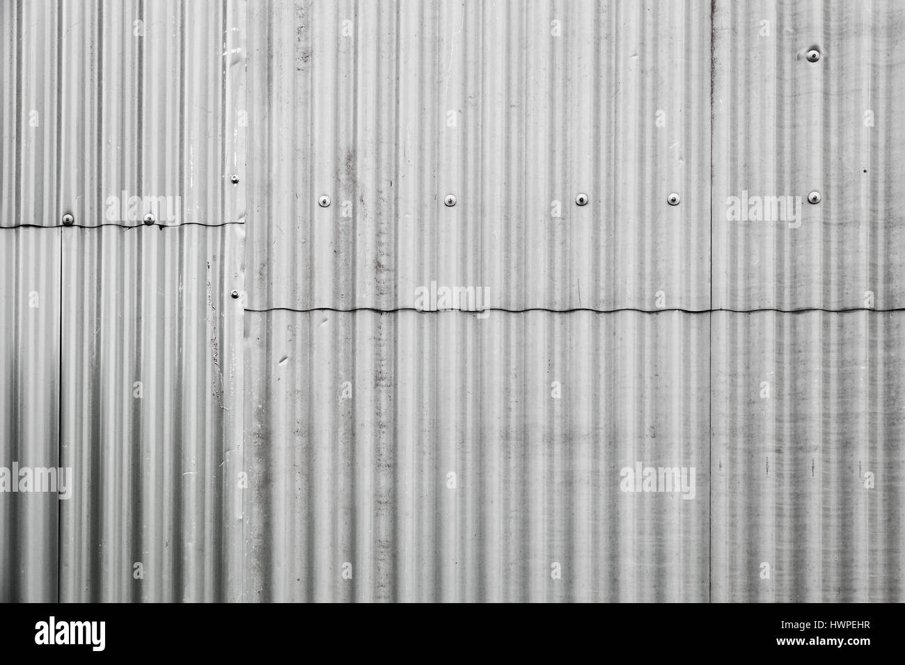 gray corrugated metal fence