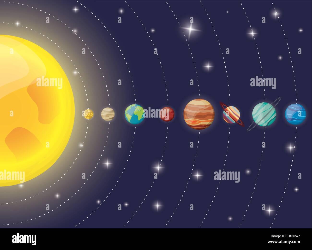 hight resolution of solar system planets sun diagram