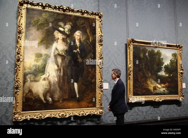 Paintings British Artists Display Stock &