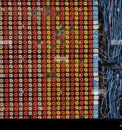 telecom engineer working on a telephone wiring junction box danshui taiwan stock image [ 1300 x 1026 Pixel ]