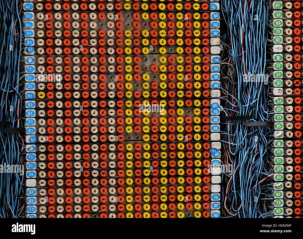 medium resolution of telecom engineer working on a telephone wiring junction box danshui taiwan stock image