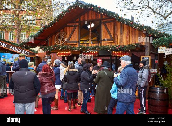 Bratwurst Stall In Christmas Market Leicester Square London Stock 136956825 - Alamy