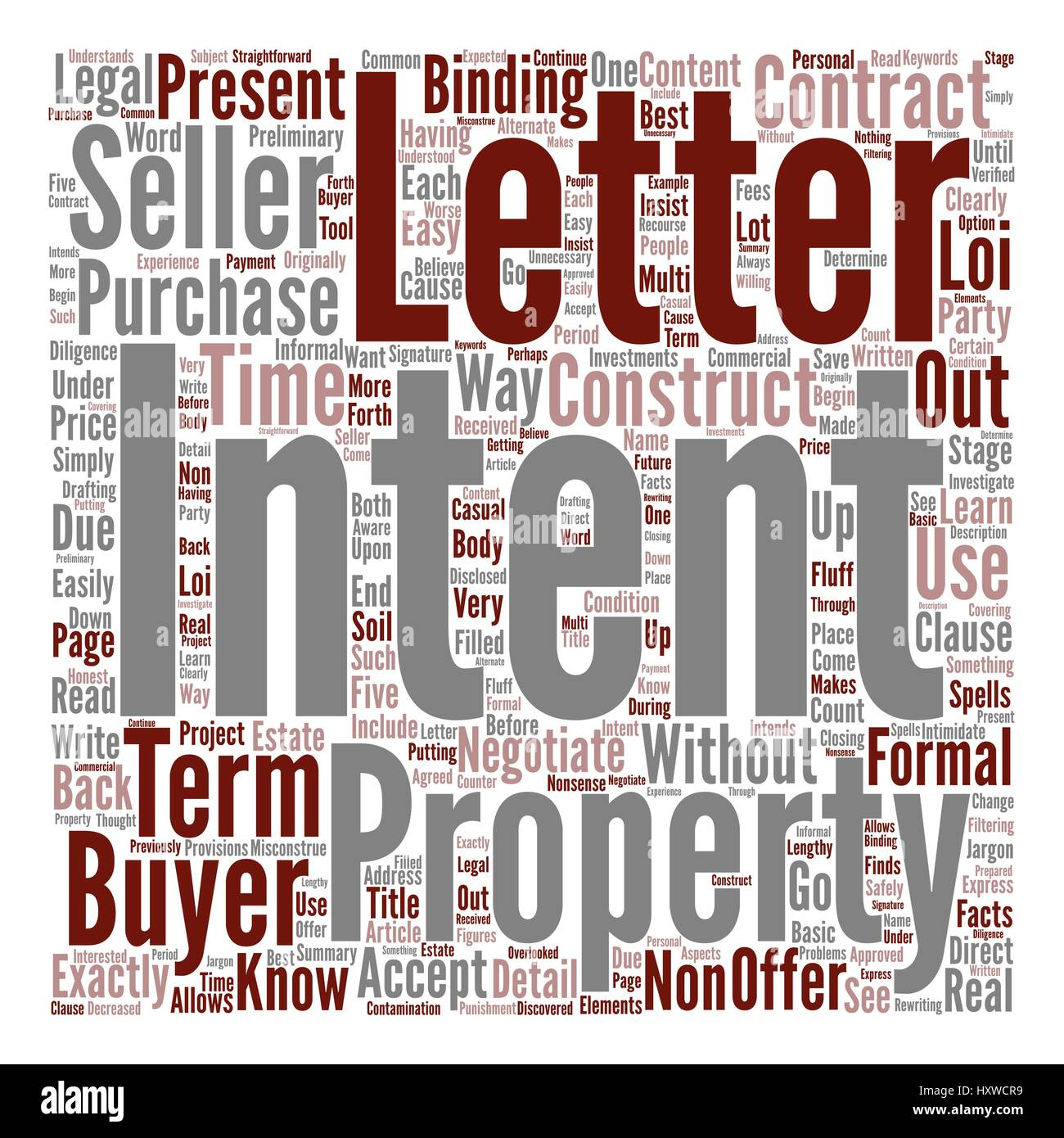 Learn How To Construct A Letter Of Intent Text Background Word Cloud Concept