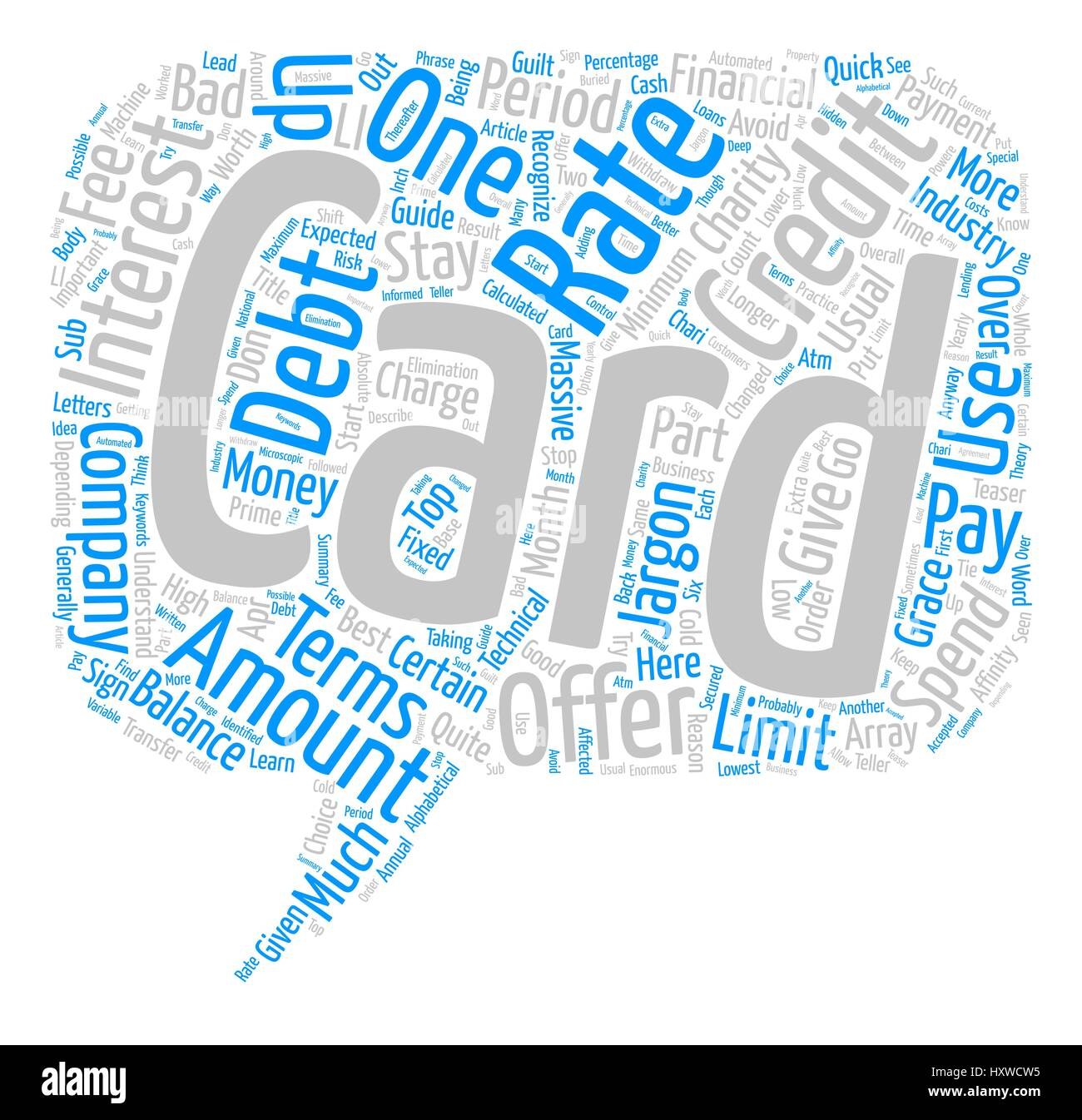 Learn The Credit Card Business Jargon And Stop Your Debt Cold Word Stock Vector Image Art Alamy