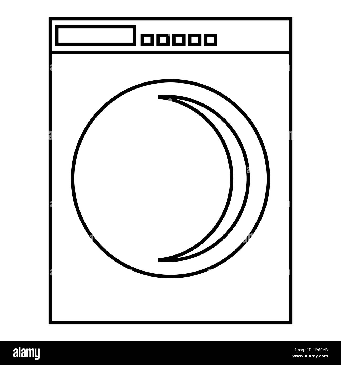 Washing Machine Icon Outline Style Stock Vector Art