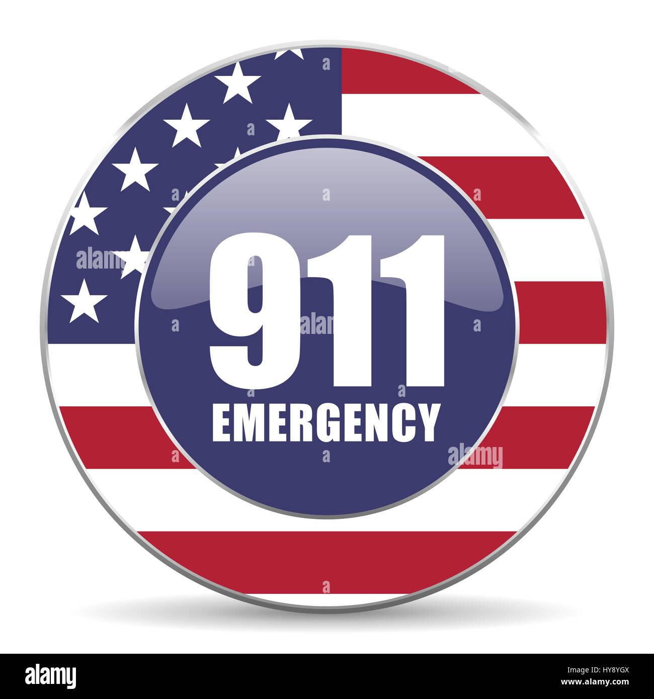 Number Emergency 911 Usa Design Web American Round