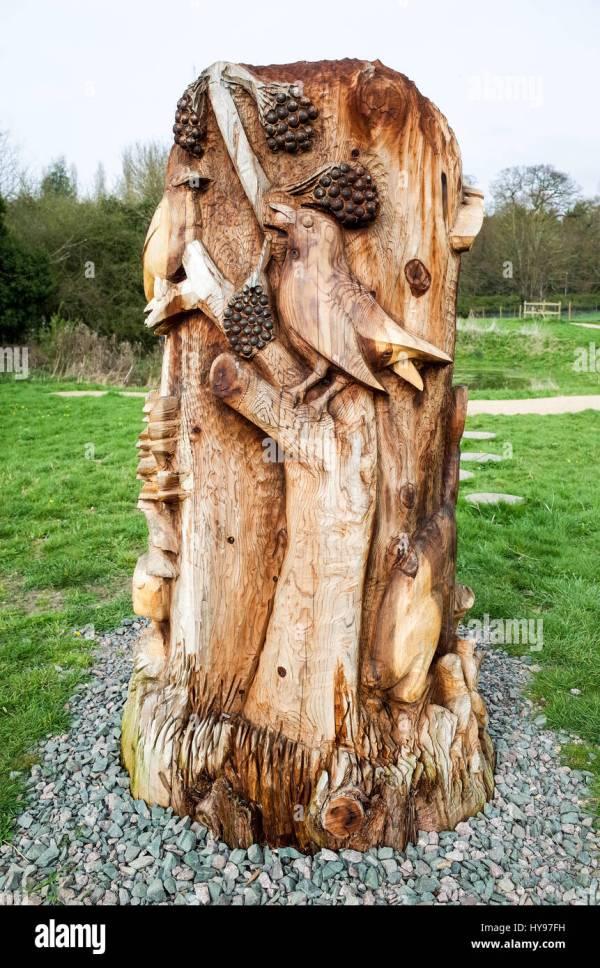 Wood Carving Sculpture Trumpington Meadows Country Park