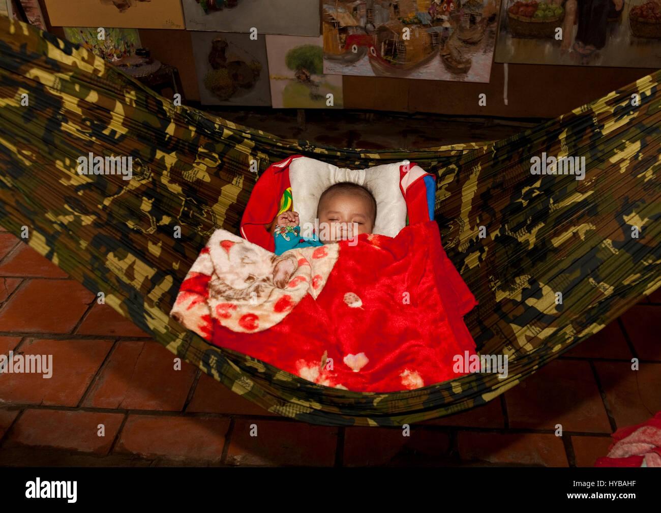 Baby Child Sleeping In Hammock Stock Photos Amp Baby Child