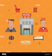 Hotel Receptionist Stock Vector - Alamy