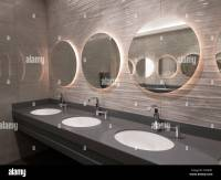Modern public washroom interior Stock Photo: 137544569