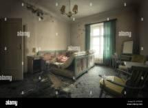 Abandoned Bedroom. Spooky Of