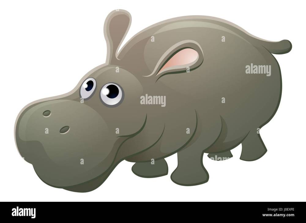 medium resolution of a cute hippo hippopotamus animal cartoon character mascot stock image