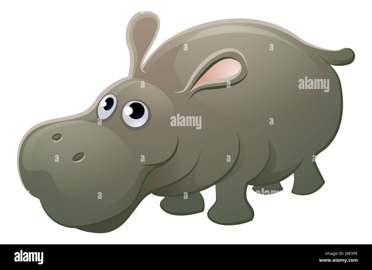 hight resolution of a cute hippo hippopotamus animal cartoon character mascot stock image