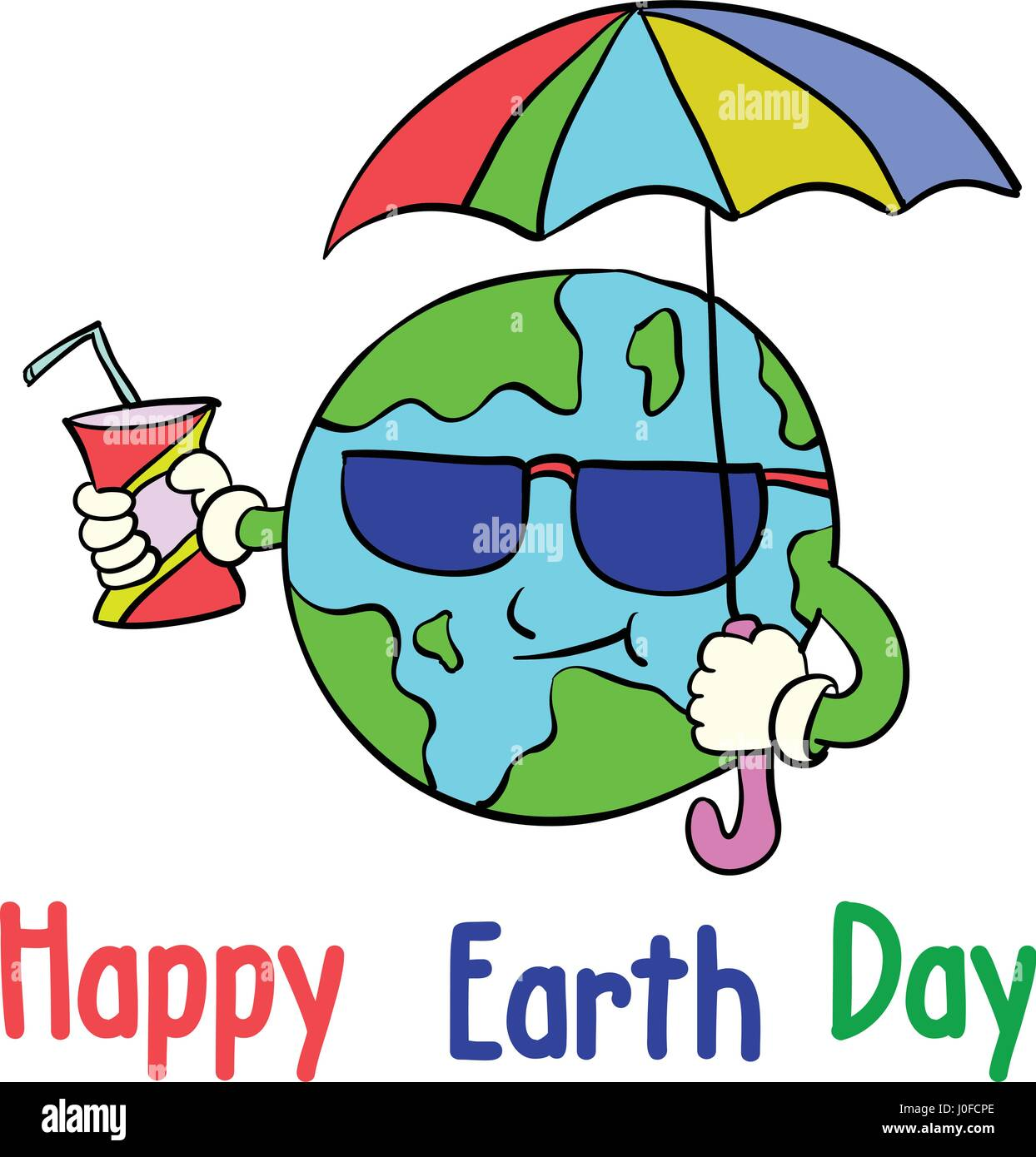 Cartoon Earth Day Style Collection Stock Vector Art Amp Illustration Vector Image