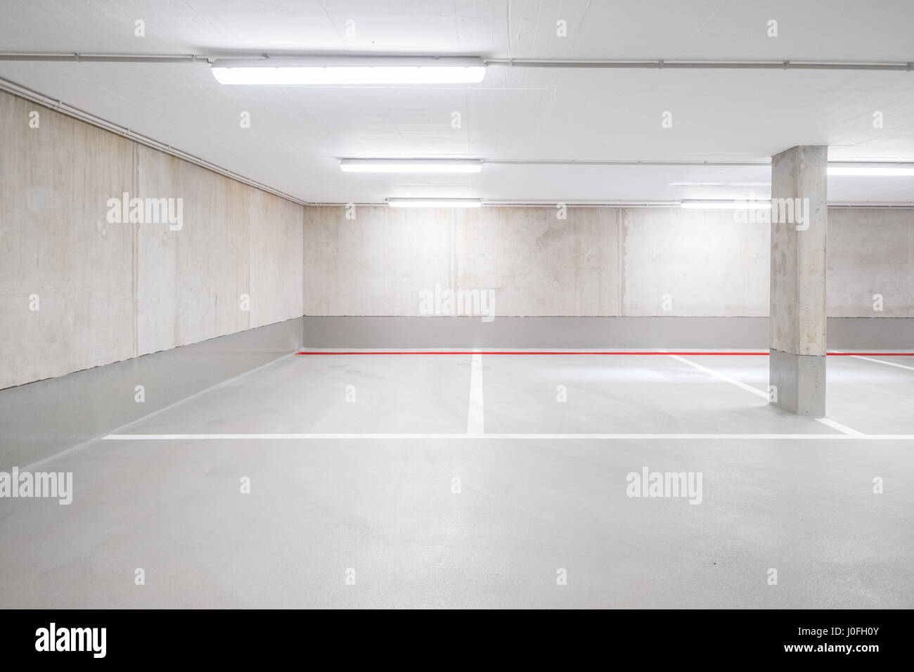 underground car parking deck