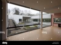 view from living room to the hanging garden, Villa Savoye ...