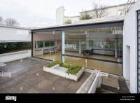 view from hanging garden to living room, Villa Savoye at ...