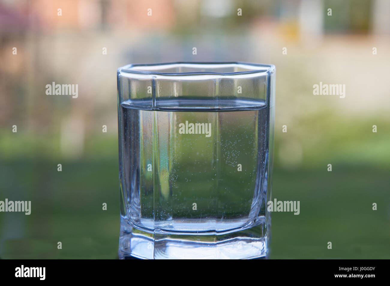 healthy bubble glass water