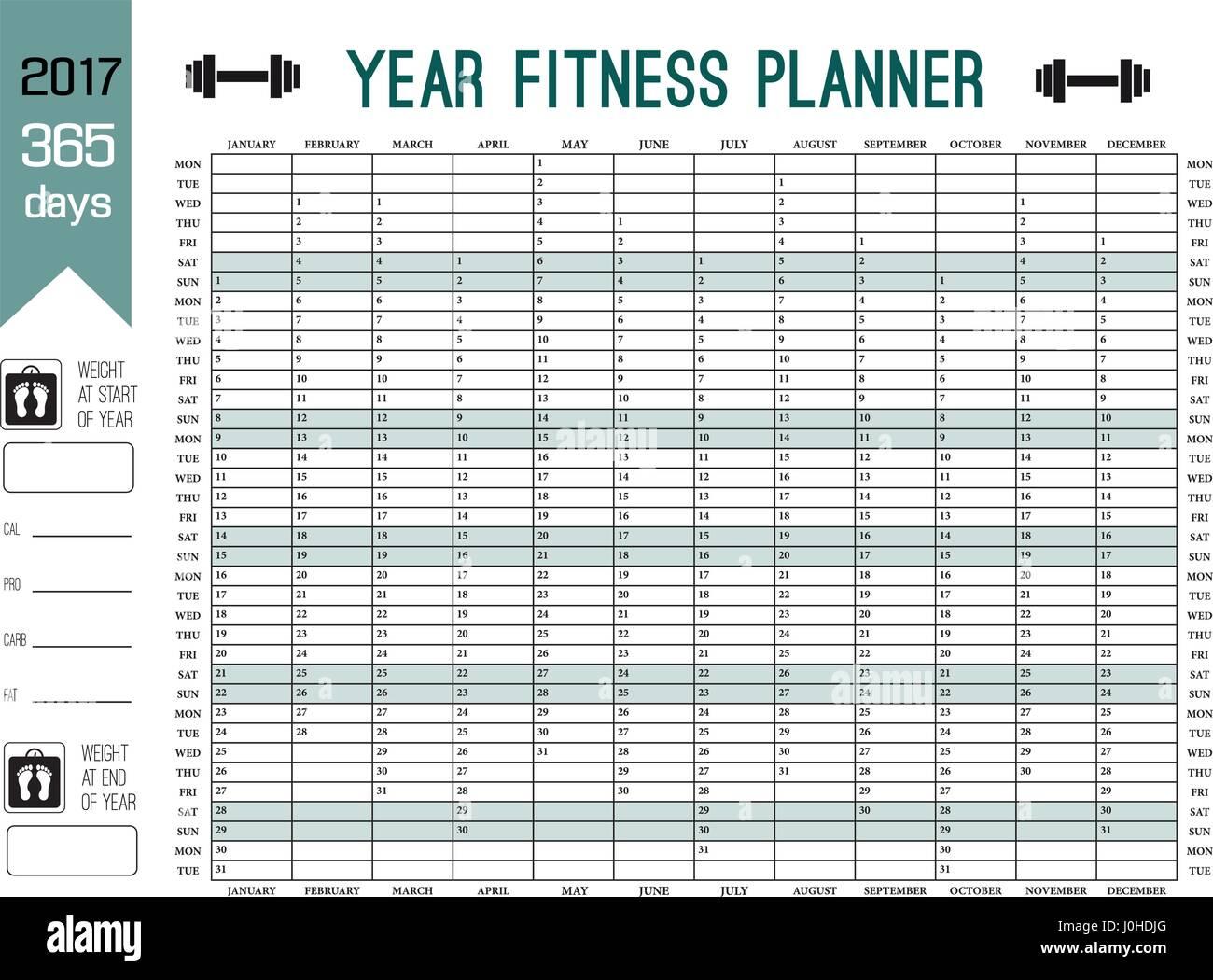 Calendar Fitness Plan