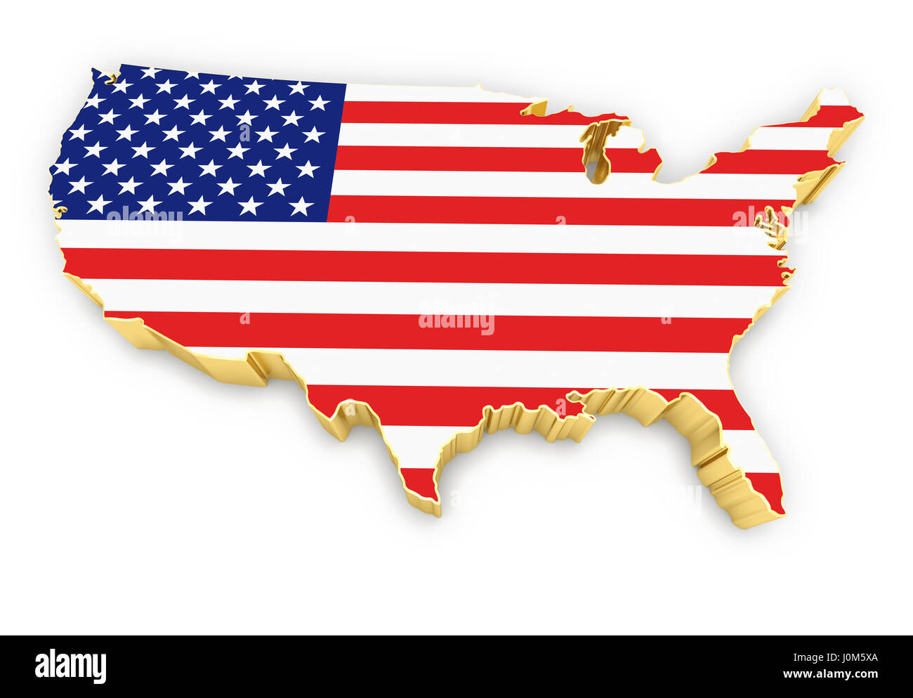 Refers to the sharpness and clarity of an image. United States Of America High Resolution Rendered Golden Map Stock Photo Alamy