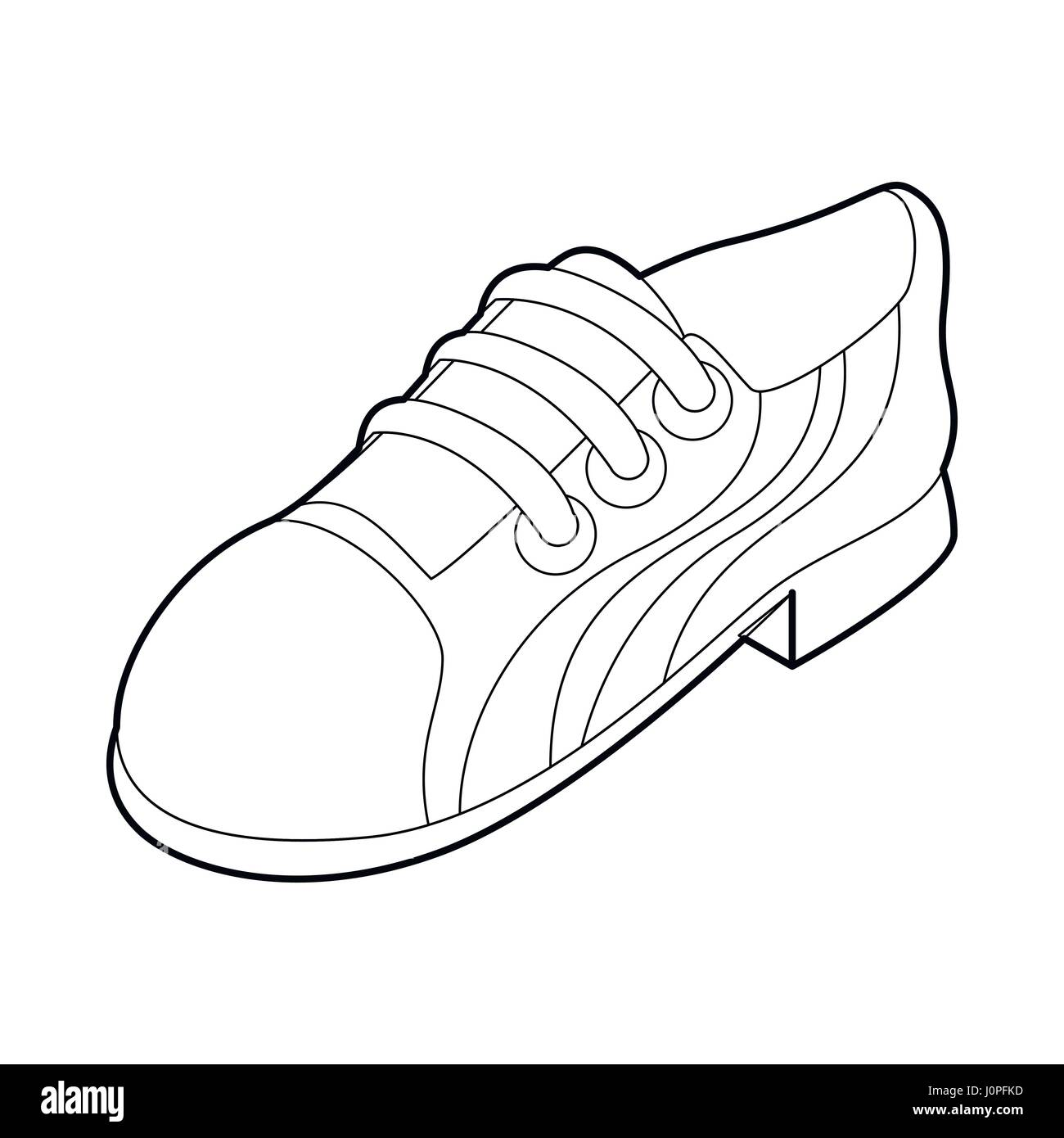 hight resolution of running shoe icon outline style