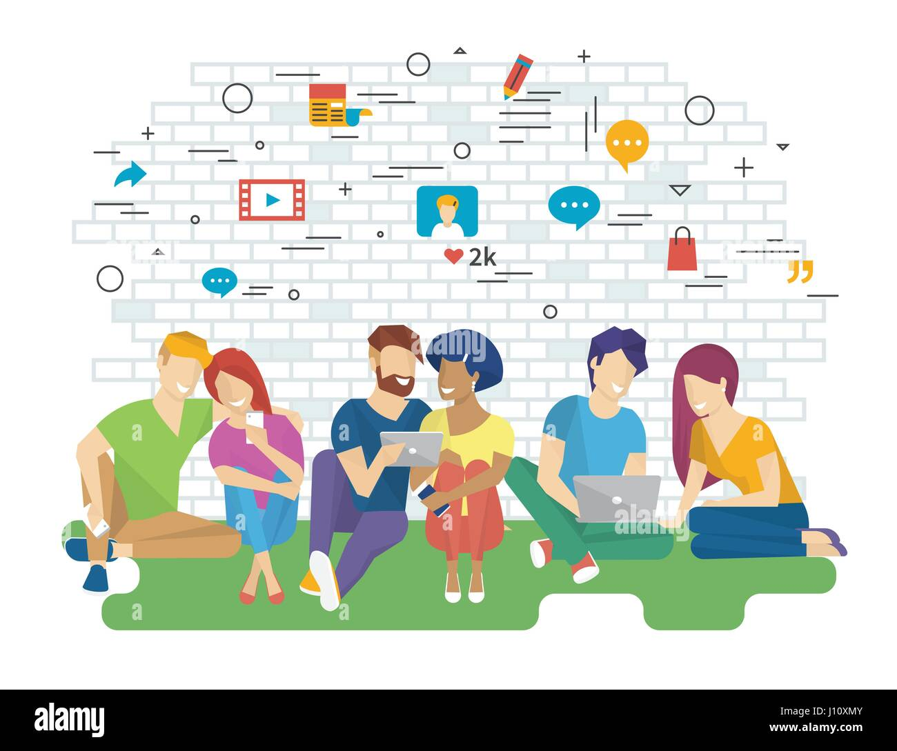 community vector illustration of