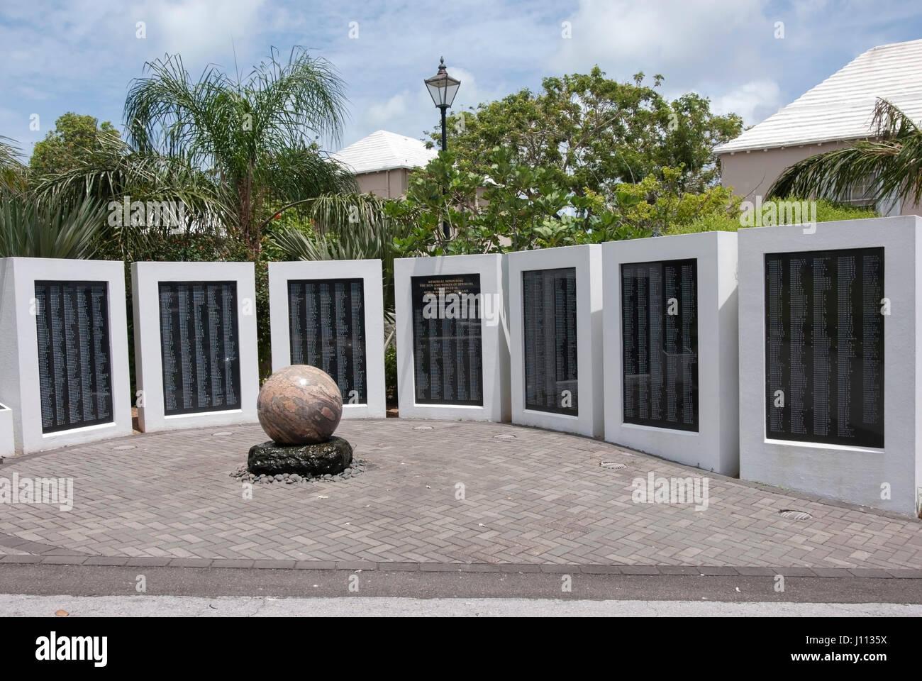 Bermuda War Memorial In The Cabinet Building Garden Front