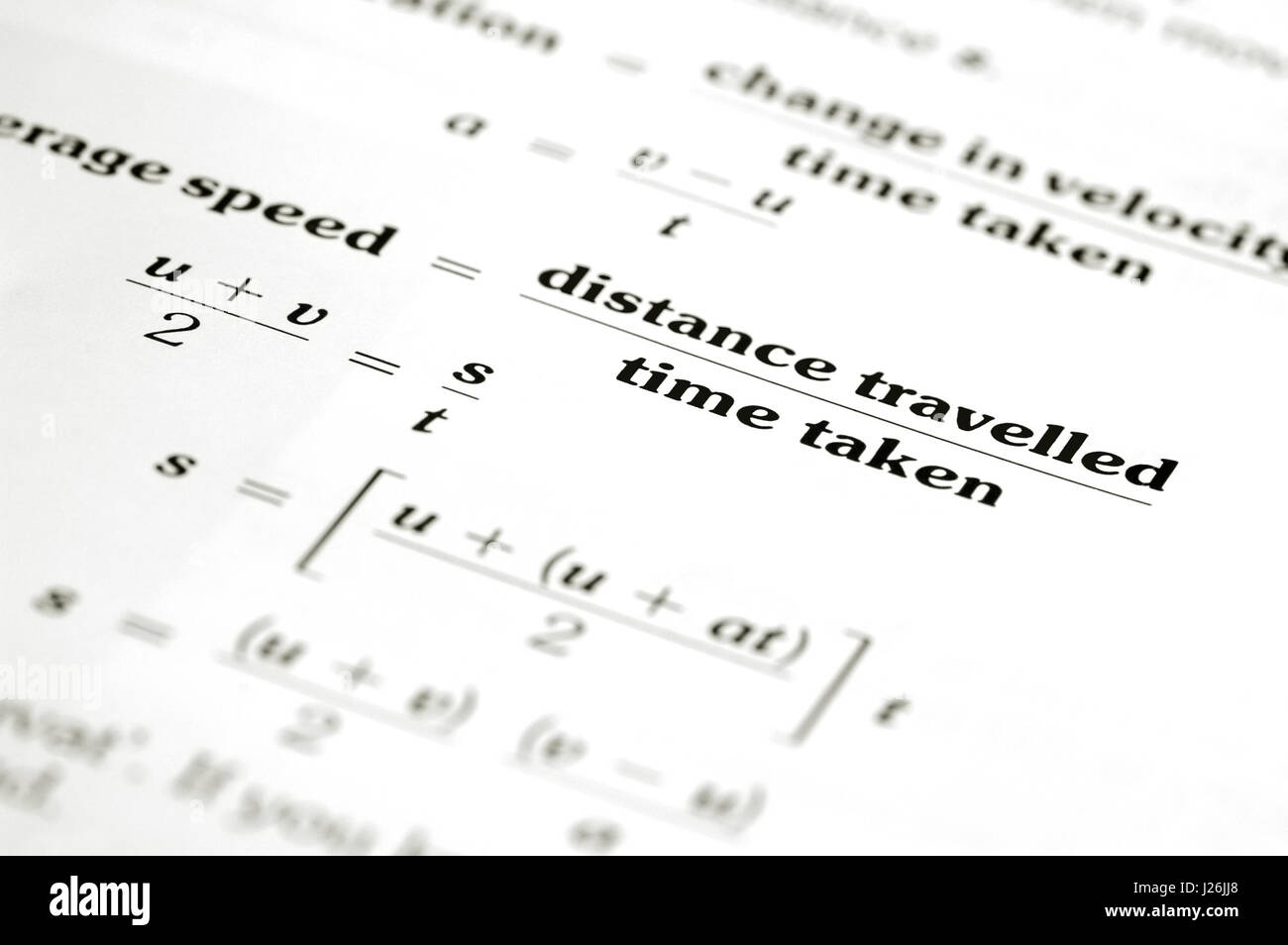 Math Equation Calculating Average Speed Of Distance Over