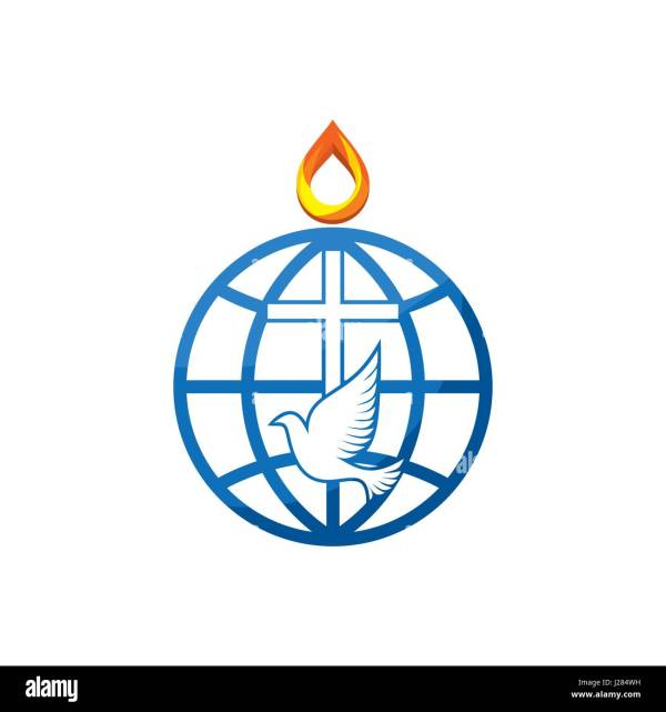 Church Logo. Cross Dove And Globe World Stock Vector Art